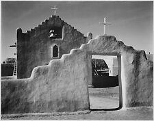"Ansel Adams Photo ""Church, Taos Pueblo"" 1941"