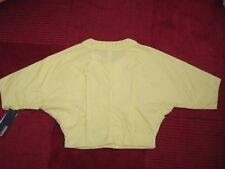 RRP £389! Designer CK Calvin Klein Yellow Lemon bat wing Zip up cropped jacket M
