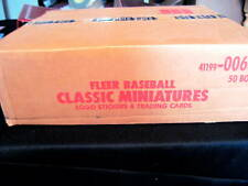 1987 FLEER CLASSIC MINI BASEBALL CASE *PRICED TO SELL*