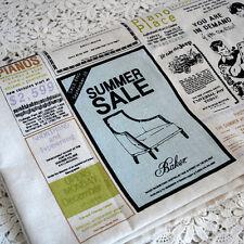RETRO Craft TESSUTO-VINTAGE quotidiano classfields notizie stampa 80 cm di larghezza x 145cm