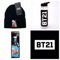 BT21 BTS Line Friends Accessory Lot - Beanie Hat, Water Bottle, Lanyard (NWT)