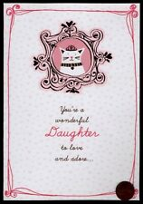 Valentine Cat Kitten Princess Crown Daughter - Valentine's Day Greeting Card New