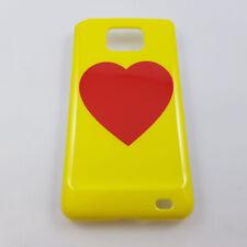 Samsung Galaxy S2 I9100 Yellow Red Heart Plastic Hard Case
