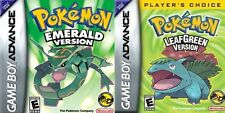 POKEMON GAMES LEAFGREEN EMERALD GBA GAMEBOY ADVANCE DS UK 1ST CLASS DELIVERY