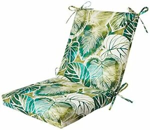 Pillow Perfect Outdoor/Indoor Key Cove Lagoon Squared Corners Chair CushionGreen