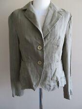 Italian Blu Sand green linen blazer, size 46, AUS 10, NWT