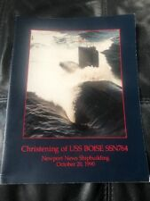 US Navy Christening Book USS Boise Submarine SSN-764 20 October 1990