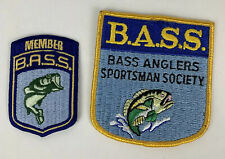 Lot Of Two B.A.S.S. Member Fishing Patches