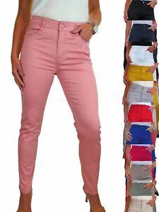 Ladies Slim Leg Chino Jeans High Waisted Chino Sheen 10-20