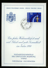 Liechtenstein 1983 Christmas Philatelic Card #292