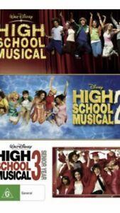 High School Musical 1 2 3 Senior Year 3 Movie BRAND NEW R4 DVD