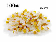 100-PACK Yellow 2-Wire IDC Connector, Splices 22-26 AWG Wire, CM-UY2