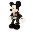 "Disney Store Authentic Mickey Mouse Skeleton Plush - Halloween - 12"" - New"