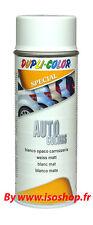 Pintura aerosol color automóvil Blanco Mate Espray laca Bricolaje 400ml