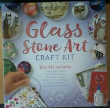 New Glass Stone Art Book And Kit Diy Painting Glass Stones Kids Crafts Kit New
