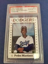PEDRO MARTINEZ 1990 SPORTS PRO CARD #12 DODGERS/RED SOX (ROOKIE GRADED) PSA-10