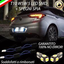 COPPIA LUCI TARGA 5 LED OPEL ASTRA K T10 + SPEGNI SPIA 100% NO AVARIA