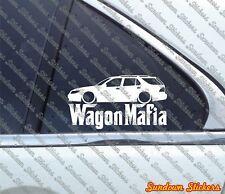 Lowered WAGON MAFIA sticker - for Saab 9-5 Station wagon