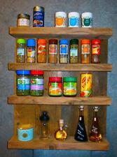 Gewürzregal natur gebeizt Gewürzhalter Küchenregal Gewürzboard Bad Regal Vintage