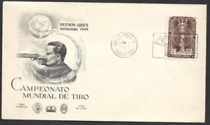 ARGENTINA-1949 Airmail - International Shooting Championship - FIRST DAY COVER.
