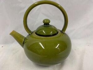 Linthorpe Pottery Christopher Dresser Design Green Teapot Impress No 1460 A/F
