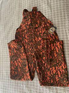 Woolrich Wool Camo Orange Hunting Bib Overalls Men's L