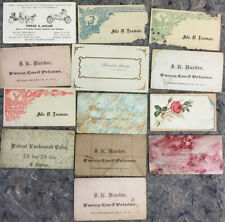 Lot of Antique Calling Card Samples-Conditions Vary