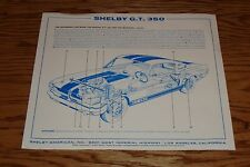 1966 Ford Shelby GT 350 Sales Fact Sheet Brochure 66 Mustang