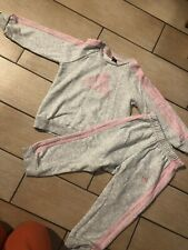 Adidas baby Girls Full Tracksuit Baby Jogger Full Set 18/24 months good cond