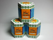 3 x 30G TIGER BALM HERBAL WHITE OINTMENT MASSAGE RELIEF MUSCLE Aches & Pains A++