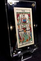c1850 Chariot Antique Tarot Playing Cards Major Arcana Stencil Painted Single