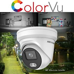 Hikvision 4MP ColorVu Turret 24/7 Colorful Night Home Business Security Cameras