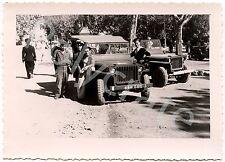 Libération 1944 Toulon Jeep Soldats -  photo ancienne débarquement de Provence