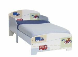 Modern Vehicles Wooden Bed for Boys Kids Toddler - 59 x 77 x 145cm