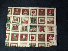 1 yd fabric quilt quilting Christmas squares tree stocking reindeer ornament