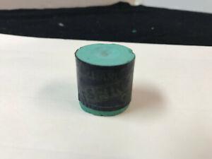 1897 Vintage Spink's Double End  Round Green Billiard Cue  Chalk