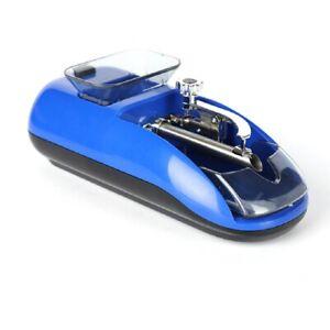 New Edge Design Electronic Tobacco Cigarette Roller Rolling Machine Blue Kj