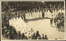 Parade or Ceremony Soldiers & Nurses BOND DAY Social History RPPC c1910