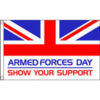 Armed Forces Day Flag 5Ft X 3Ft British Military Remembrance Day Ww1 Banner New