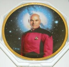 Star Trek The Next Generation Captain Picard Ceramic Plate 1993 MINT IN BOX COA