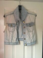Topshop Cropped Denim Jacket Size 10