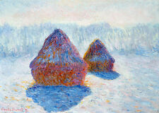 Haystacks-Effect of Snow and Sun by Claude Monet 60cm x 42.3cm Art Print