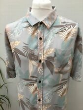 Men's 3XL Summer Short Sleeved Shirt Blue Floral Casual Outfitters George