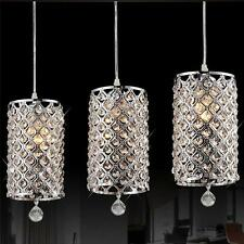3 X Modern Crystal Ceiling Lights Pendant Lamp Chandelier Fixture Home Decor US