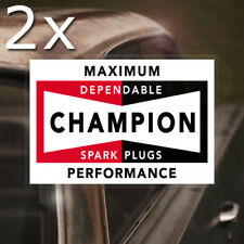 2x pieces Champion Spark Plugs REAL waterslide decal STP vintage hot rod inside