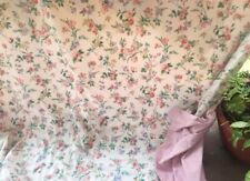 """Vintage Laura Ashley Floral Duvet Cover Reversible To Stripes Pink Queen 90x90"""""""