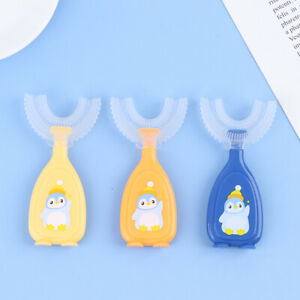 Cartoon Baby Toothbrush Kids Teeth Oral Care Cleaning Brush Silicone Toothb-_cd
