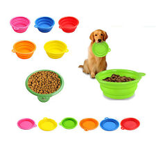 Portable Folding Silicon Gel Pet Dog Cat Water Food Feeding Bowl Outdoor Travel