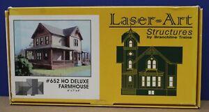 Branchline Laser Art Structures 652 Deluxe Farmhouse HO Craftsman Kit laser Cut