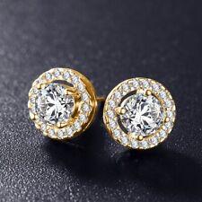 Mystic 1.2ct Round Cut Fire Opal Rainbow 925 Silver White Sapphire SALE Earrings